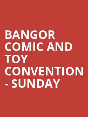 Bangor Comic and Toy Convention - Sunday at Cross Insurance Center